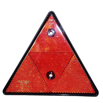 Triangle réflecteur rouge