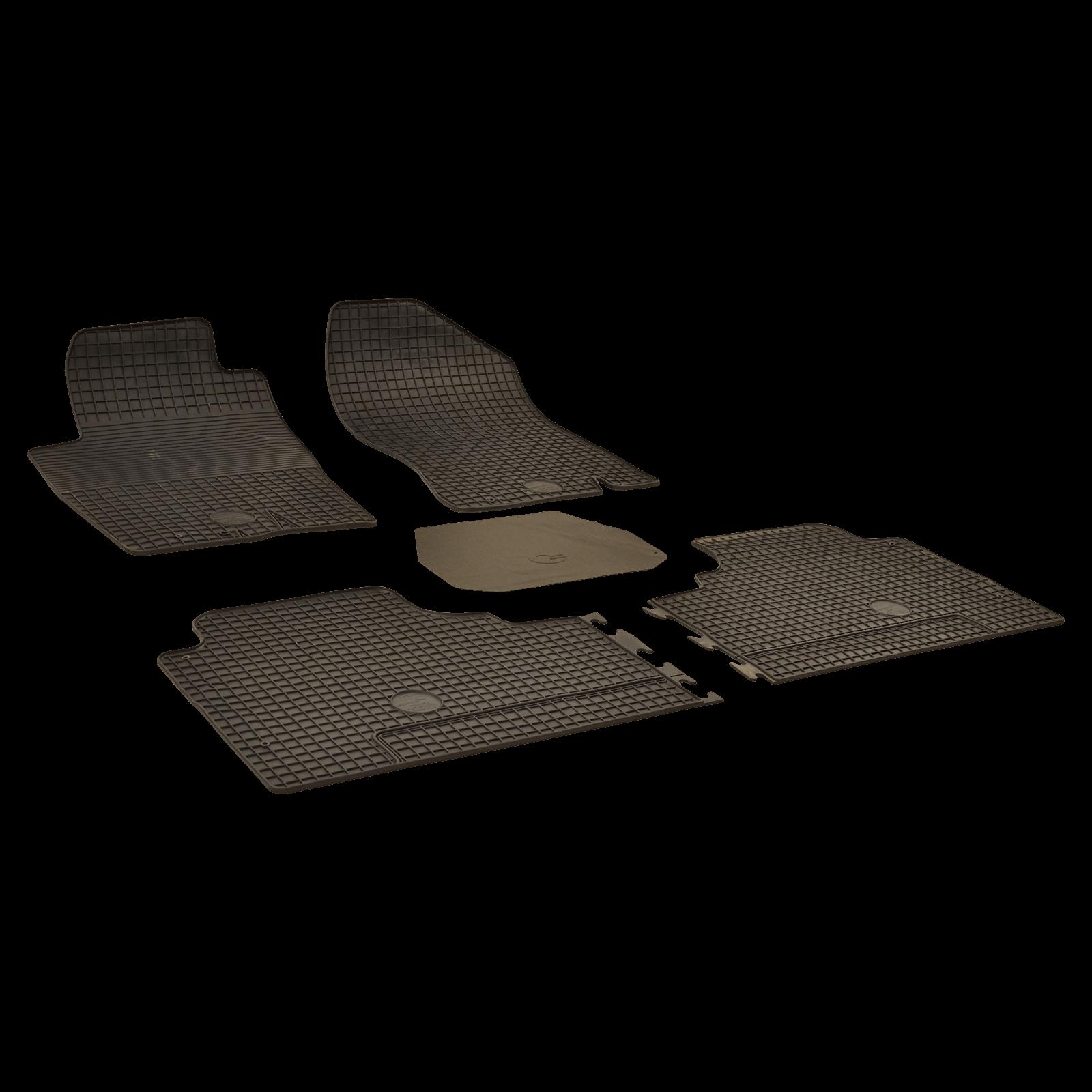 tapis de sol en caoutchouc noir pour nissan np300 navara. Black Bedroom Furniture Sets. Home Design Ideas