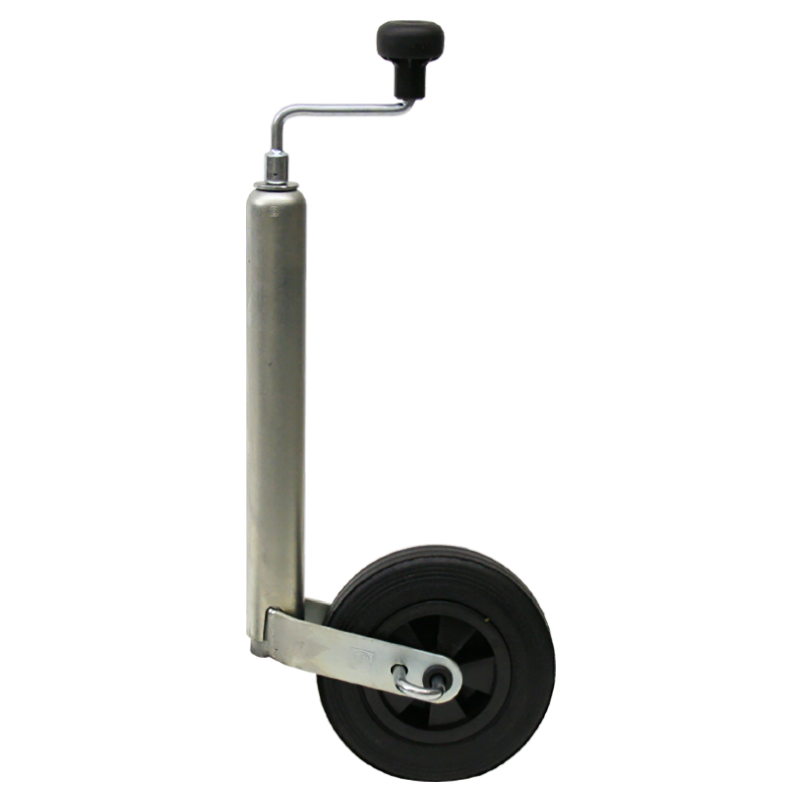 roue jockey erde telescopique 150 kg 48 mm diametre avec frein a main chez rameder. Black Bedroom Furniture Sets. Home Design Ideas