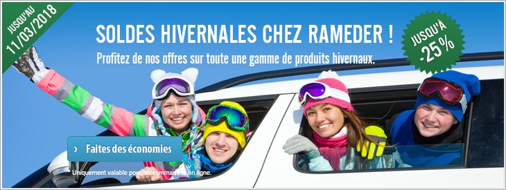 Soldes hivernales chez Rameder !  Profitez de nos offres sur toute une gamme de produits hivernaux.