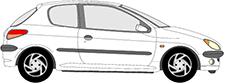 206 3/5 portes (2A/C)